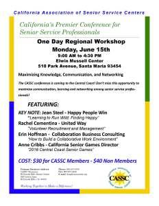 2015 June CASSC Conference